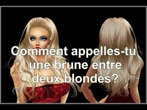 comment appelle t on une brune entre deux blondes blague de blonde youtube. Black Bedroom Furniture Sets. Home Design Ideas