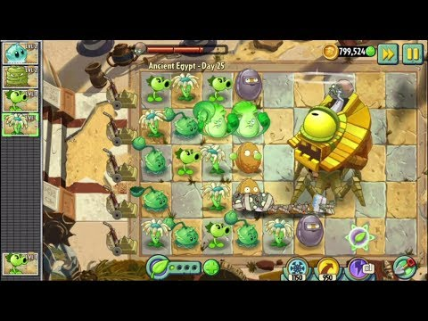 Plants vs Zombies 2: Ancient Egypt Day 25 - Hack full 🎣 Games For Kids Channel 🎣