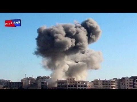 Amateur video shows Syrian airstrikes, children pulled from rubble