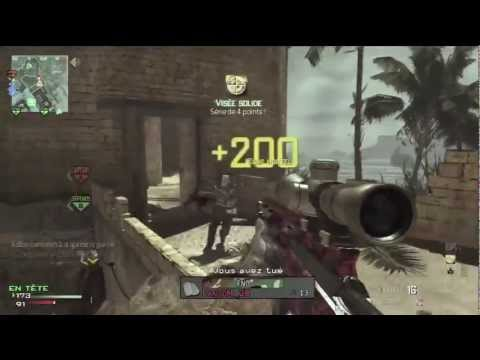 MW3 - Les bases pour sniper sur un call of duty Tuto ep1 - Domination Seatown avec le MSR - video fr