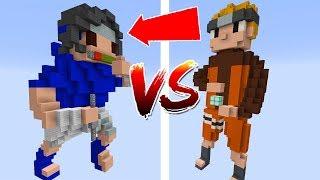 Thử Thách Làm Naruto Đánh Sasuke Trong Minecraft (Minecraft)