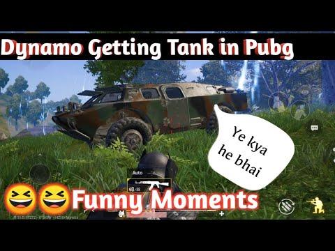 Dynamo Getting Tank in pubg mobile | Dynamo Funny Moment |Dynamo live