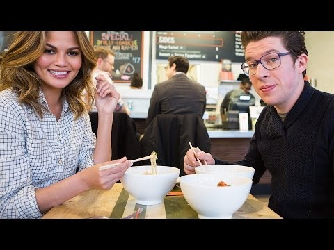 Ramen & Dating: Chrissy Teigen & Justin Warner Meet IRL on Two Top