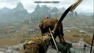 Skyrim: How To Kill Strong Monsters Easily. (EASY ARCHERY