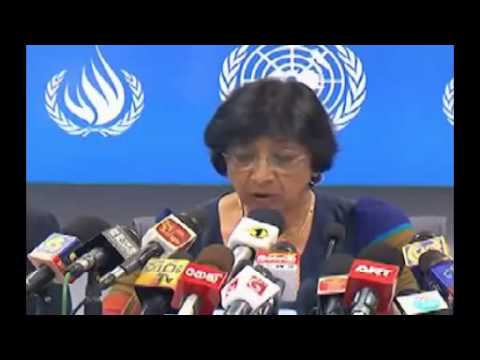 UN Navi Pillay Press Conference in Sri Lanka