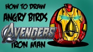 How To Draw Angry Birds AVENGERS!! (iron Man)!!
