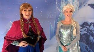 Anna And Elsa From FROZEN First Public Meet & Greet