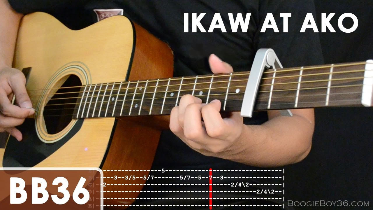 Ikaw At Ako - TJ Monterde Guitar Tutorial (intro lead/chords/strumming/etc) - YouTube