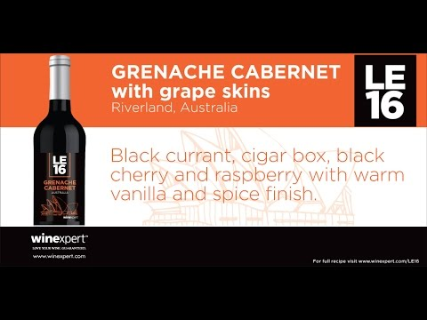 Winexpert LE16 - Grenache Cabernet (with skins) - Australia
