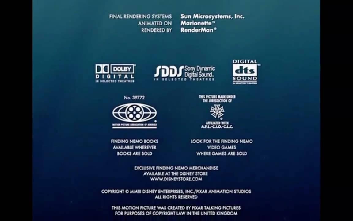 Finding Nemo credits s...