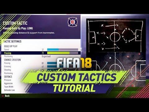 Fifa 18 Best Custom Tactics Tutorial Best Attack Best Defense