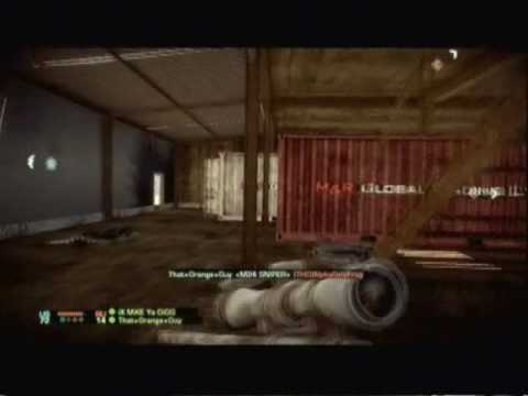 battlefield  bad  company  2 Quick Scopeing First match ever Good Kills