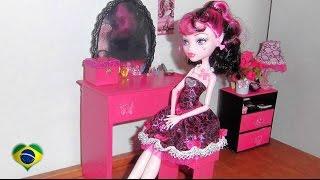 Como Fazer Penteadeira #2 Para Boneca Monster High, Barbie
