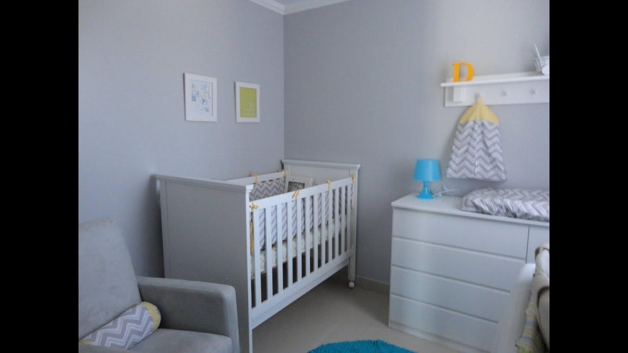 decoracao quarto azul turquesa e amarelo:Cinza Quarto De Bebe