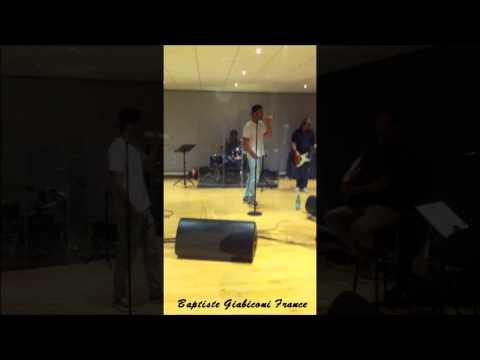 Baptiste Giabiconi - répétitions pour le Live de Trélazé