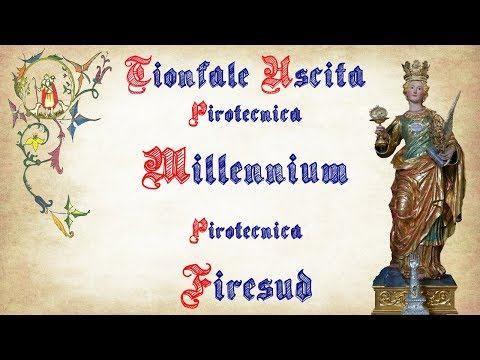 ACICATENA (Ct) - Santa Lucia 2017 - Pirotecnica MILLENNIUM e FIRESUD (Uscita 1° Postazione)