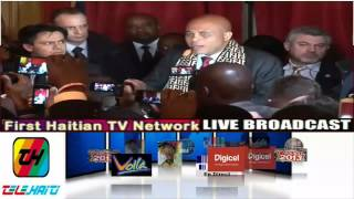 Martelly En France  2-20-2014  Via Telehaiti