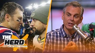 Colin Cowherd reacts to Tom Brady's win over Aaron Rodgers, Packers on SNF   NFL   THE HERD