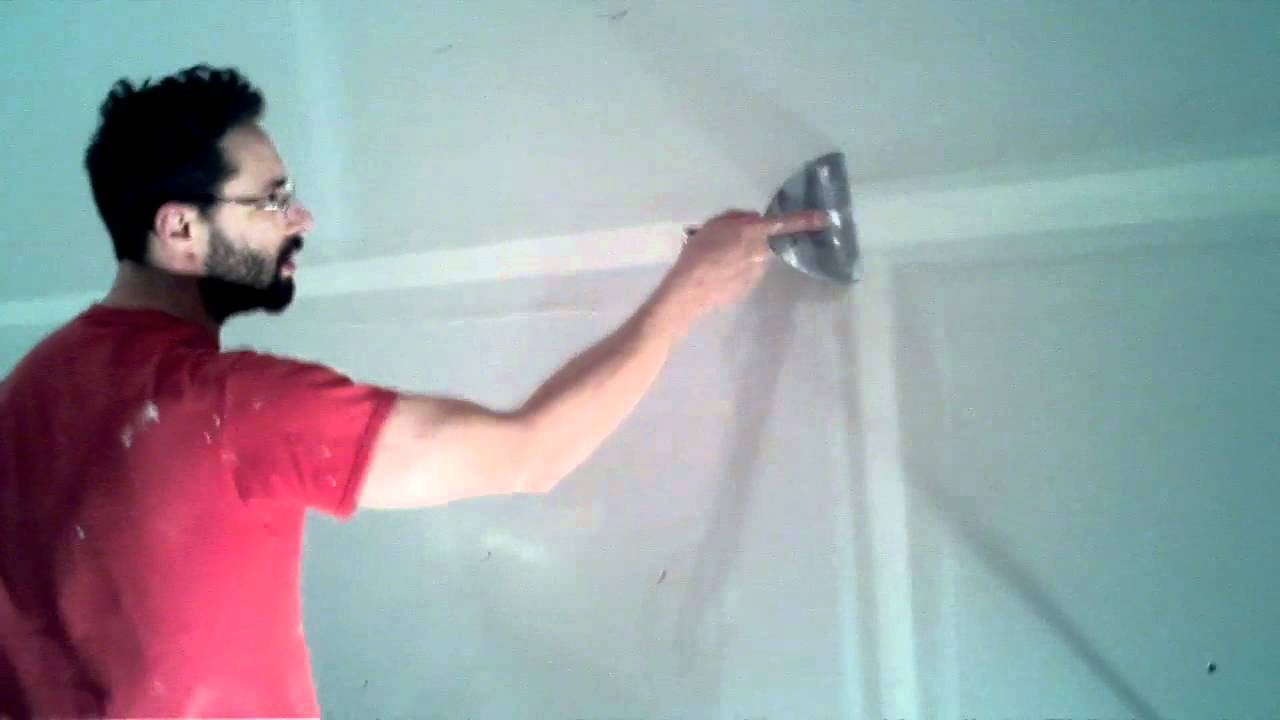 Applying Drywall Tape : How to apply drywall tape youtube