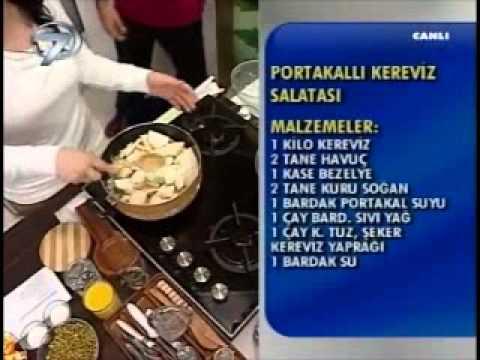 Dr. Feridun Kunak Show 11 Ocak B5(Serap Kunak'tan Portakallı Kereviz Salatası)