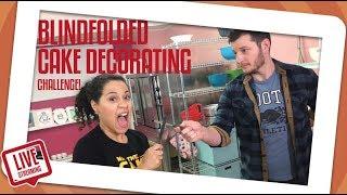 Blindfolded Cake Decorating Challenge!  | How To Cake It | Yolanda Gampp