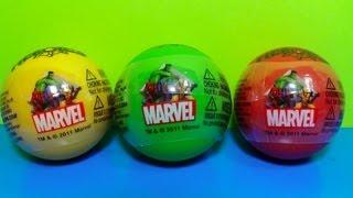 3 Surprise Eggs MARVEL Heroics! Surprise Egg MARVEL Spider