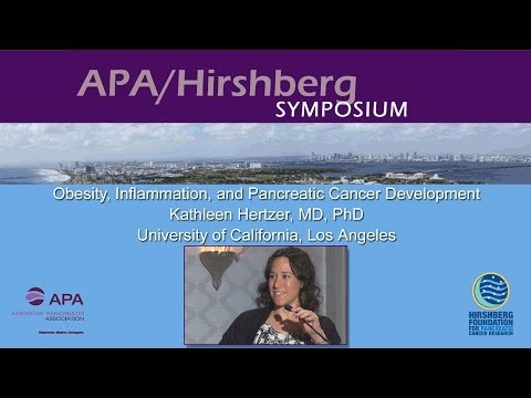Obesity, Inflammation, and Pancreatic Cancer Development, Kathleen Hertzer, MD, PhD