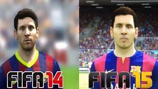FIFA 14 VS FIFA 15 ¡Comparativa Caras De Jugadores