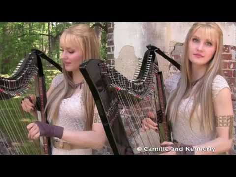 Game of Thrones Theme (Electric Harp Duet) Camille and Kennerly, Harp Twins