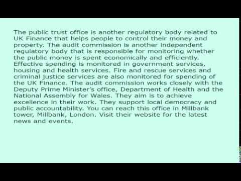 UK Finance and Auditing Regulatory bodies