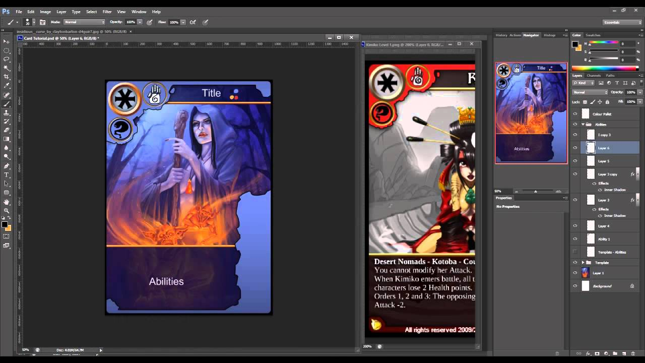 Trading card making software