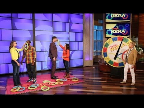 Joe Manganiello and tWitch Play Twister Hoopla