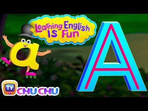 "Learning English Is Fun™ | Alphabet ""A"" | ChuChu TV Preschool English Language Learning For Children"