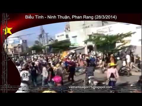 Biểu Tình Lớn Tại Ninh Thuận, Phan Rang Ngày 28/3/2014