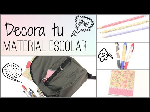 Diy decora tus cuadernos mochila y lapices back to - Como decorar una buhardilla ...