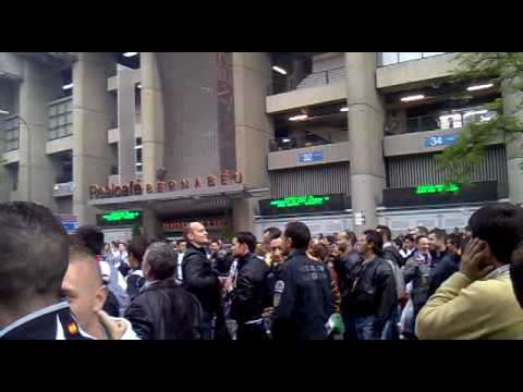 calle de los ultras(real madrid vs atlethic )