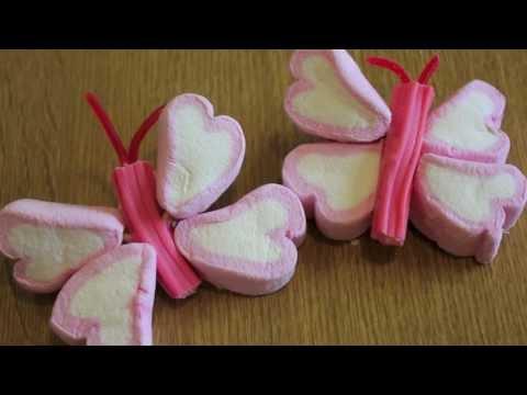 Cómo hacer paletas de mariposas con bombones, nubes, malvaviscos..: ideas de mesa dulce
