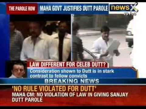 Maharashtra Chief Minister's nod to giving parole to actor Sanjay Dutt
