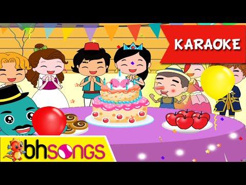 Happy Birthday karaoke song for kids | Fairytale Style | Nursery Rhymes | Ultra HD 4K Music Video
