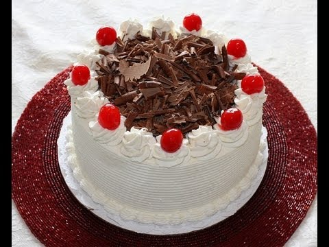 Eggless Cake Decoration At Home : Black Forest Cake Recipe and Decoration - YouTube