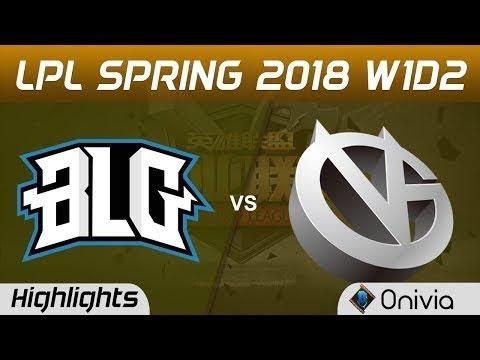 BLG vs VG Highlights Game 2 LPL Spring 2018 W1D2 Bilibili Gaming vs Vici Gaming