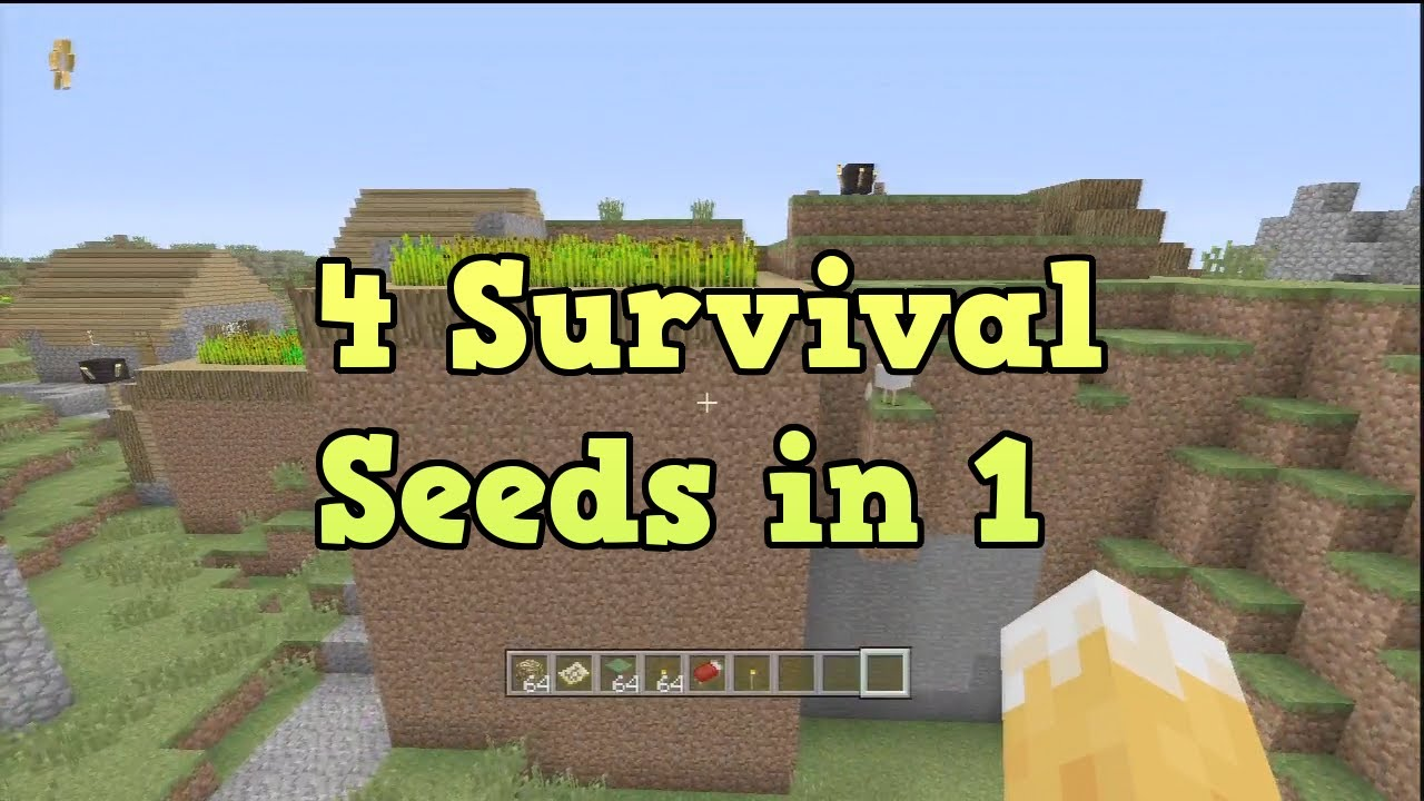 "Minecraft Xbox 360 + PS3 - 4 Survival Seeds in 1 - ""TU14 ..."