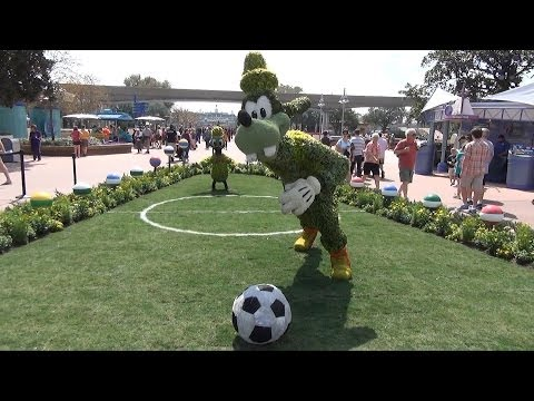 Epcot Flower and Garden Festival Opening Day Overview - Topiaries, Merchandise, Playgrounds, Food