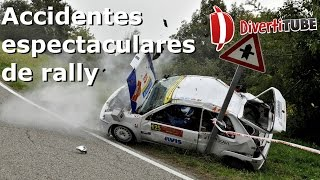 Espectaculares accidentes en rallys