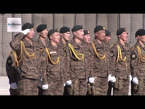 Mongolian soldiers receive NATO medals for time in Afghanistan