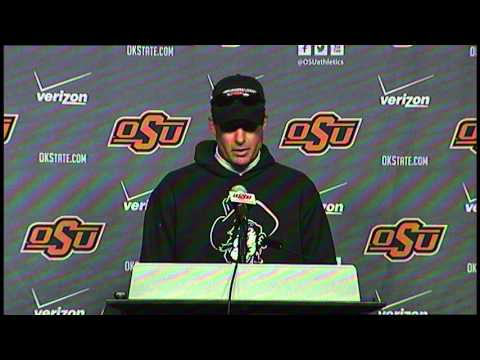 Oklahoma State Football: Bedlam Postgame (Coach Gundy)