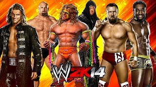 WWE 2K14: Edge Vs Goldberg Vs Ultimate Warrior Vs Daniel