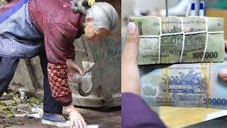 Bà lão nhặt được 330 triệu lúc trả lại ông chủ nói thiếu hơn 300 triệu và cái kết đầy nước mắt
