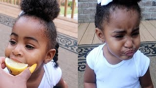 Baby Eating A Lemon For The First Time   VLOGTOBER DAY 20