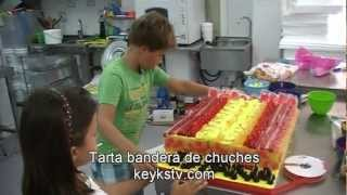 Viva La Selección Española. Tarta De Chuches De La